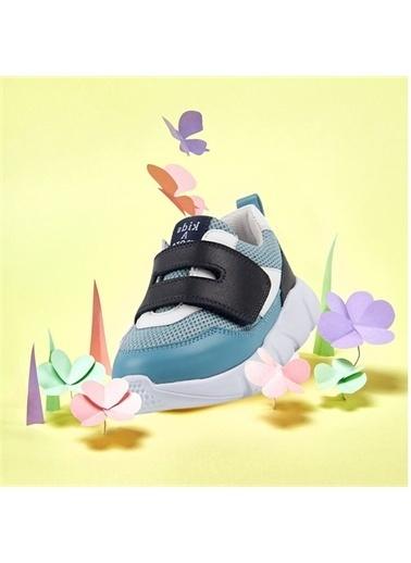 Kids A More Ellion Tek Cırtlı Deri Ve Air File Detaylı Erkek Çocuk Sneaker Mavi-Lacivert Mavi